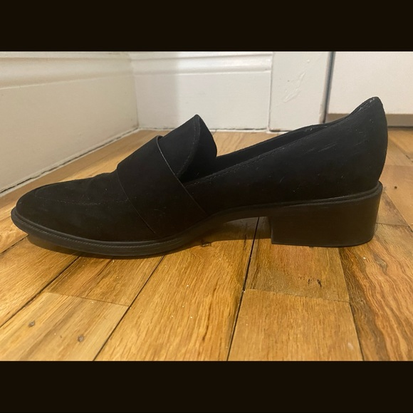 Black Suede Loafers - Size 8!